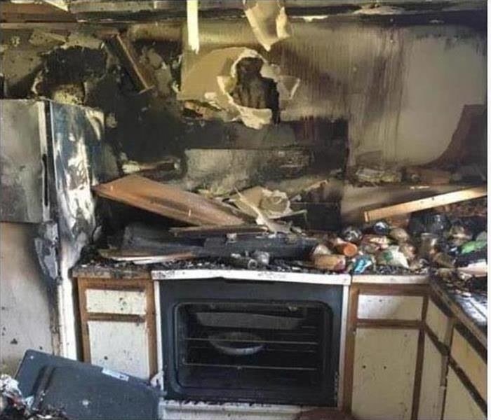 Fire Damage – Tucson Kitchen Before