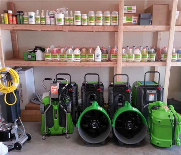 SERVPRO Cleaning Supplies