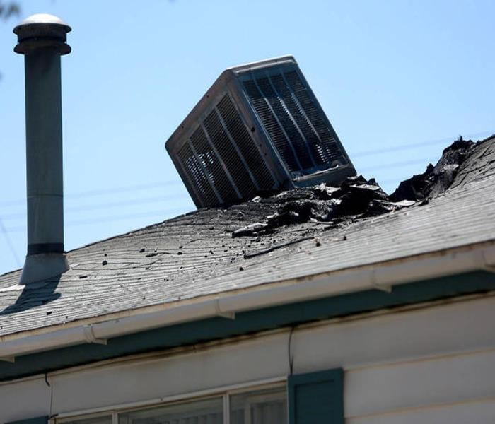 Swamp Cooler Air Conditioner Fire Damage Servpro Of